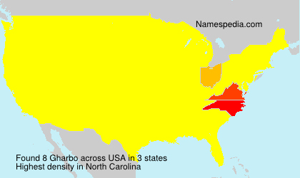 Surname Gharbo in USA