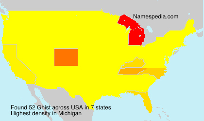 Surname Ghist in USA