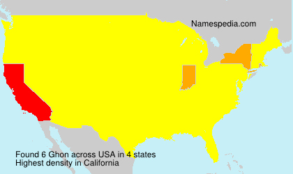 Surname Ghon in USA