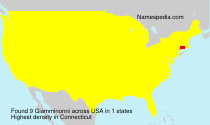Surname Giamminonni in USA