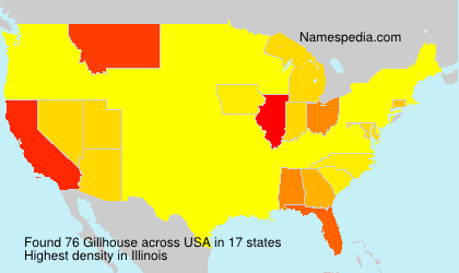 Surname Gillhouse in USA