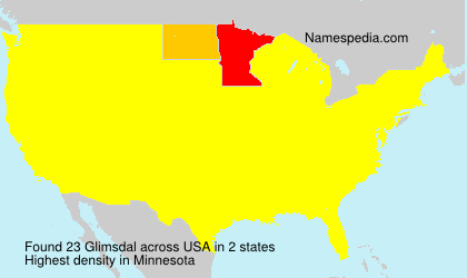Surname Glimsdal in USA