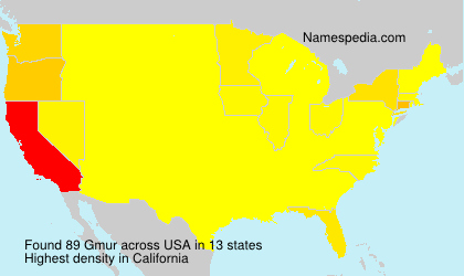 Surname Gmur in USA