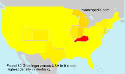 Surname Gnadinger in USA