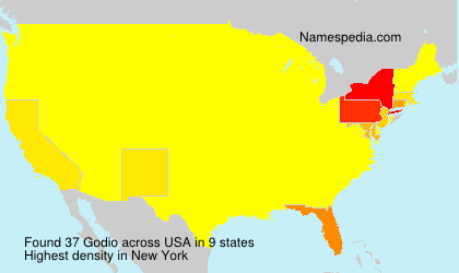 Surname Godio in USA