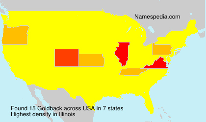 Surname Goldback in USA