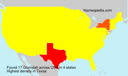 Surname Goondall in USA