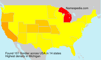 Surname Gordier in USA