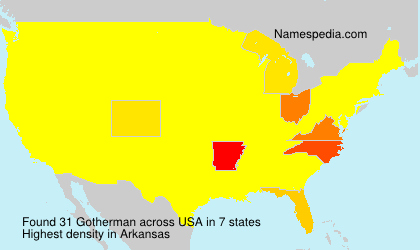 Surname Gotherman in USA