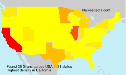 Surname Grans in USA