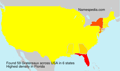 Surname Gratereaux in USA