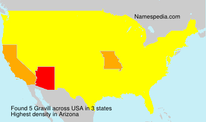 Surname Gravill in USA