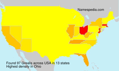 Surname Grealis in USA