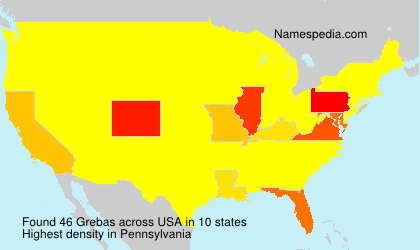 Surname Grebas in USA