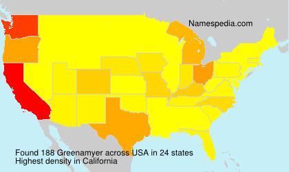 Surname Greenamyer in USA