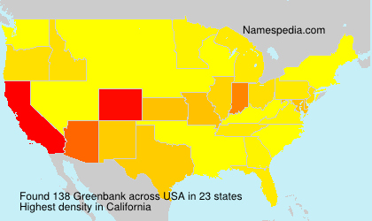 Surname Greenbank in USA