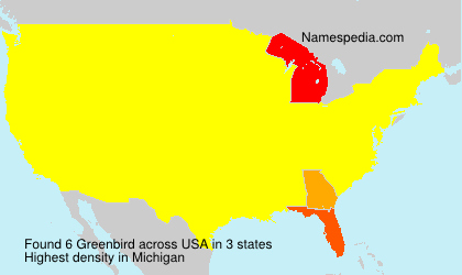 Surname Greenbird in USA