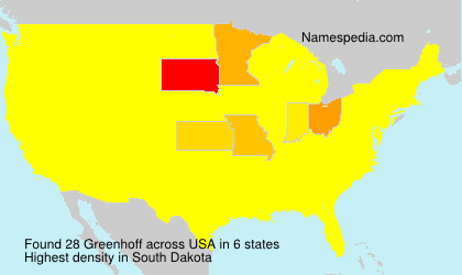 Surname Greenhoff in USA