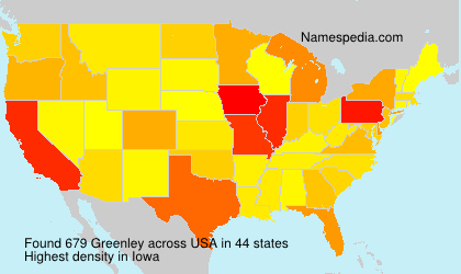 Surname Greenley in USA