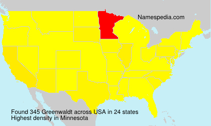 Surname Greenwaldt in USA