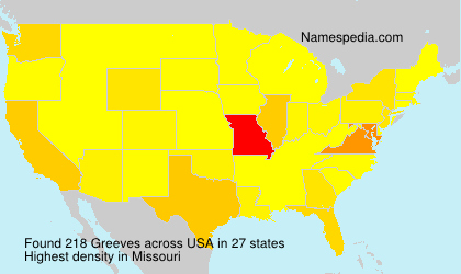 Surname Greeves in USA
