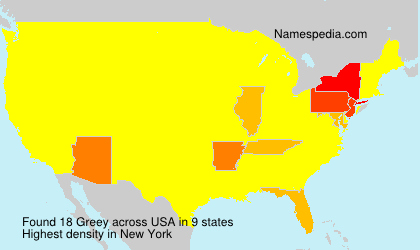 Surname Greey in USA