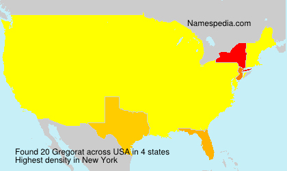 Surname Gregorat in USA