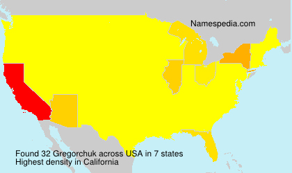 Surname Gregorchuk in USA