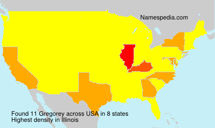 Surname Gregorey in USA