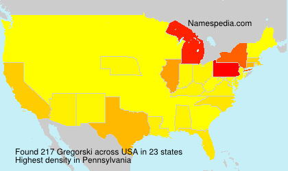 Surname Gregorski in USA