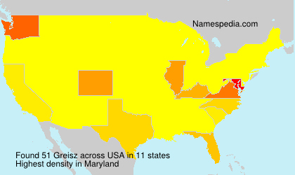 Surname Greisz in USA
