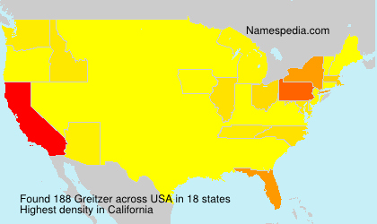 Surname Greitzer in USA