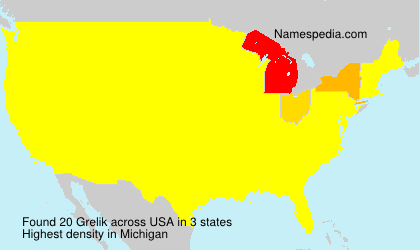 Surname Grelik in USA