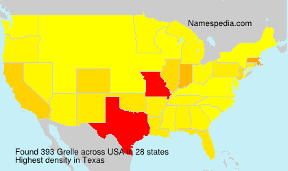 Surname Grelle in USA