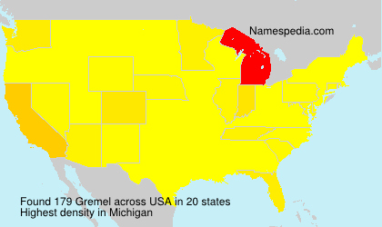 Surname Gremel in USA