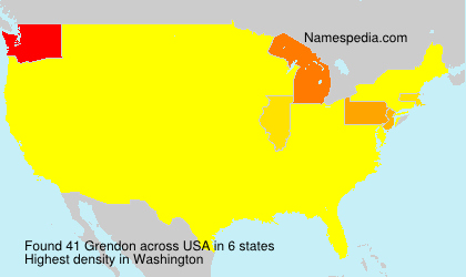 Surname Grendon in USA