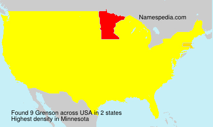 Surname Grenson in USA