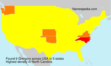 Surname Grergory in USA