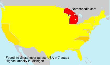 Surname Gresehover in USA