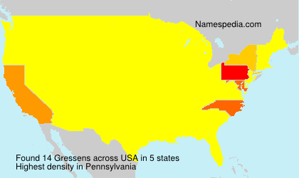 Surname Gressens in USA
