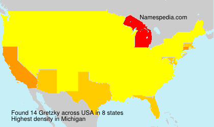 Surname Gretzky in USA