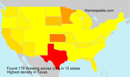 Surname Grewing in USA