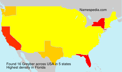 Surname Greyber in USA