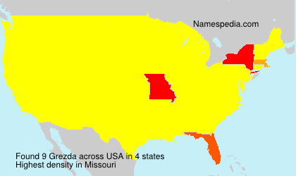 Surname Grezda in USA