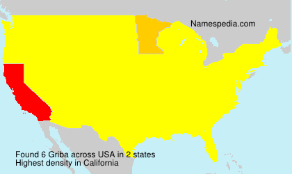 Surname Griba in USA