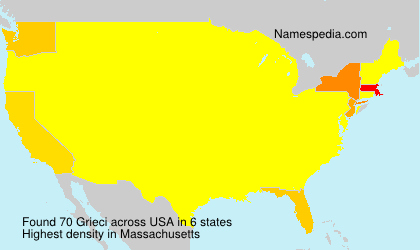 Surname Grieci in USA