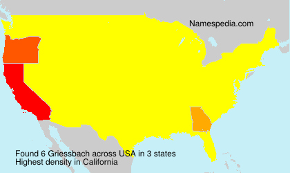 Surname Griessbach in USA
