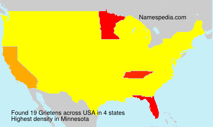 Surname Grietens in USA