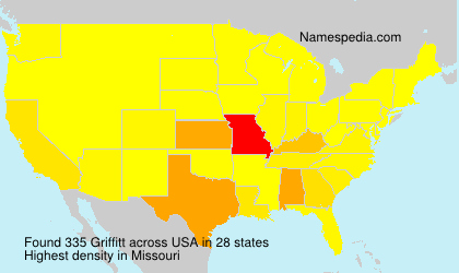 Surname Griffitt in USA