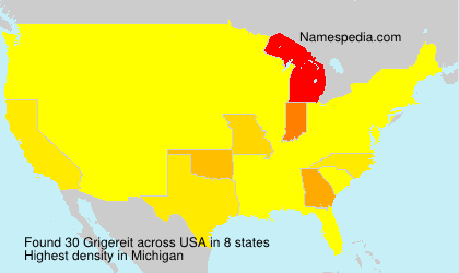 Surname Grigereit in USA